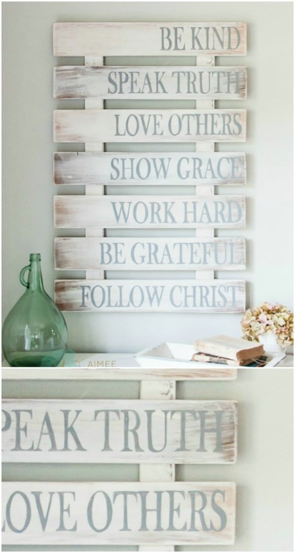 Recycled Pallet Rustic Family Sign