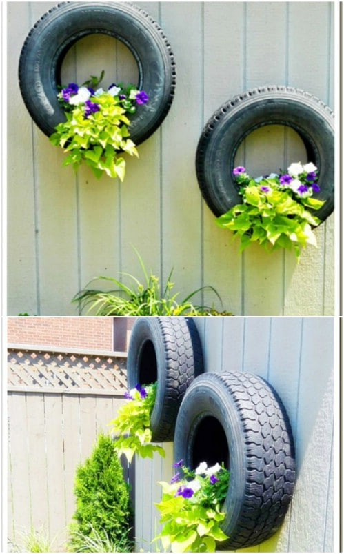 Upcycled Tire Planters