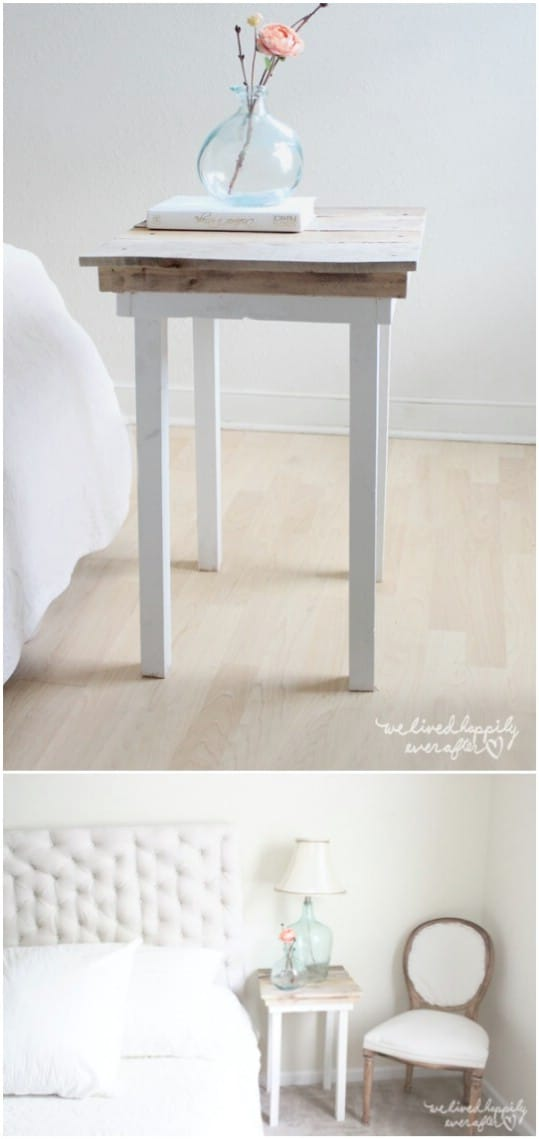 Simple Pallet Table With Legs