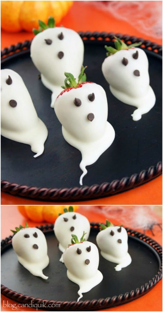 Healthy DIY Strawberry Ghosts