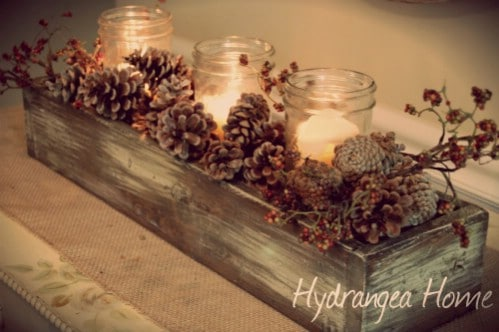 DIY Rustic Pinecone Centerpiece