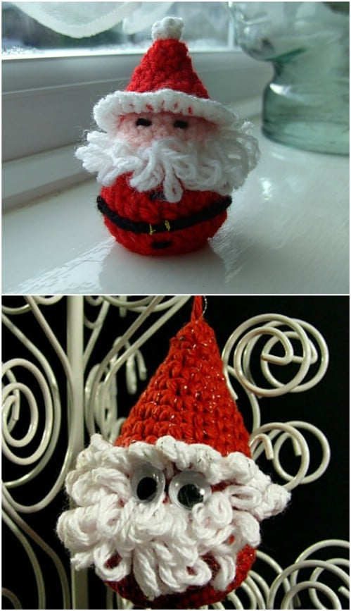 Easy Crochet Santa Claus Candy Cover