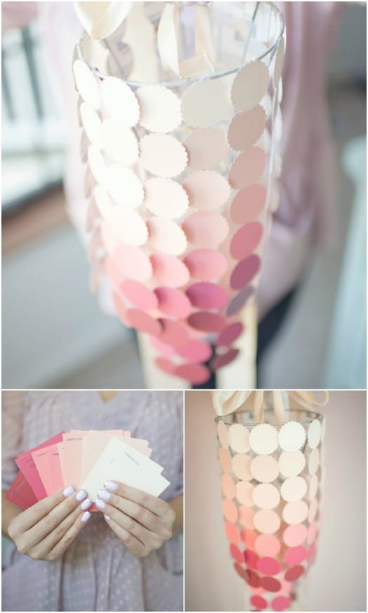 Easy DIY Paint Swatch Chandelier