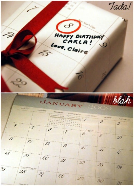 DIY Calendar Wrapping Paper