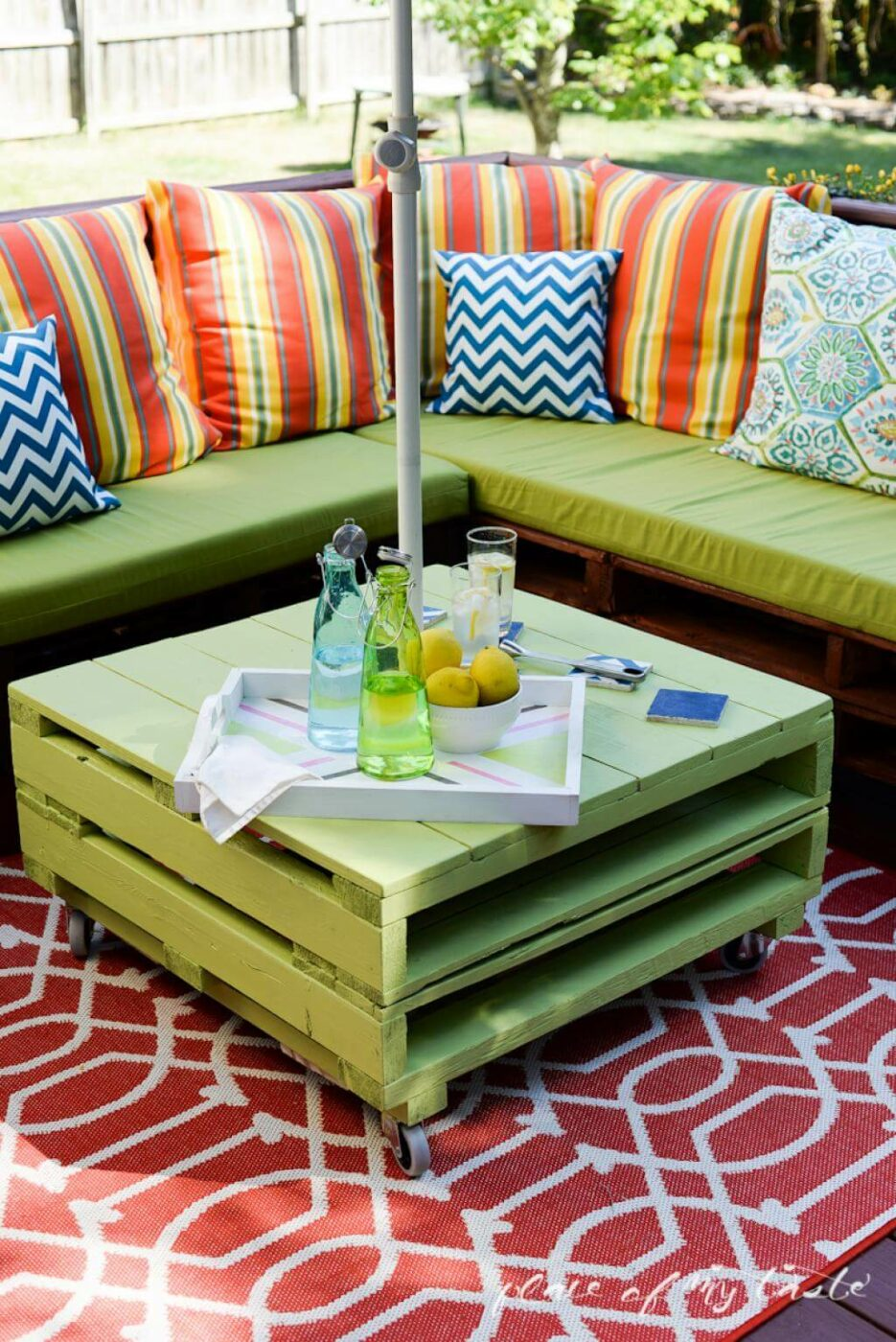 A Bright Colored Summer Outdoor Living Space