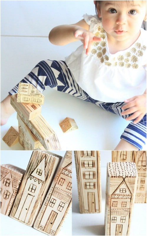 DIY Wood Burned Blocks