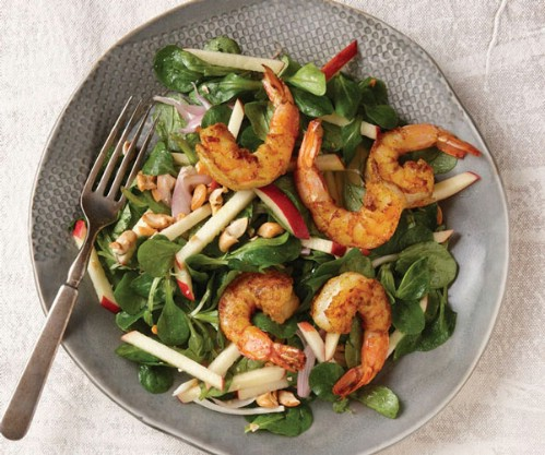 Winter Shrimp Salad With Apples