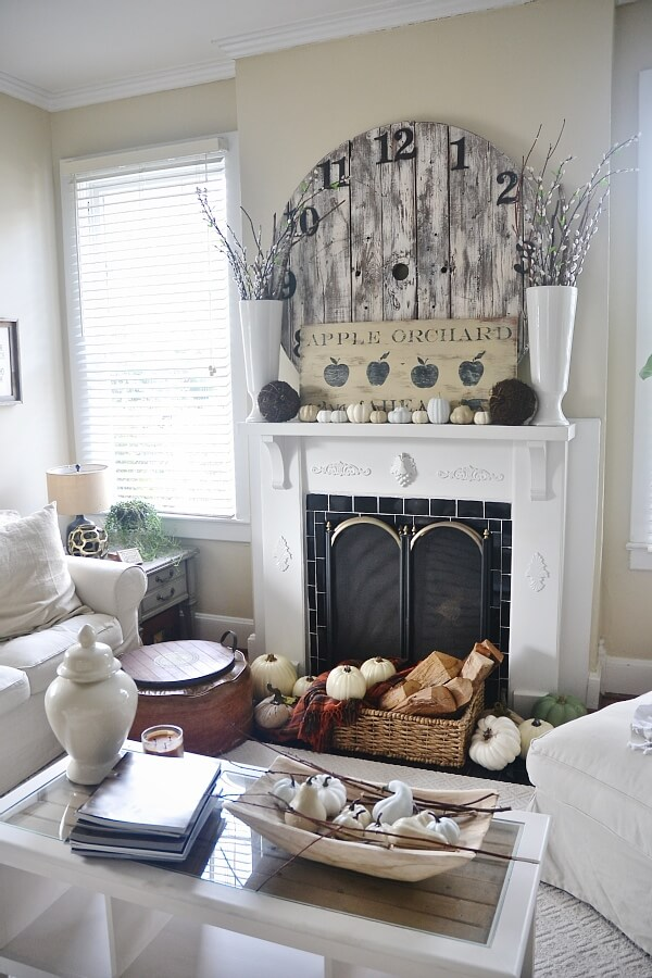 Pumpkins and Gourds Dress Up Your Hearth for Fall