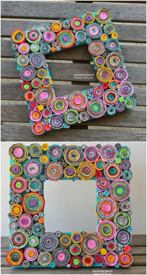 Upcycled Magazine Page Picture Frame