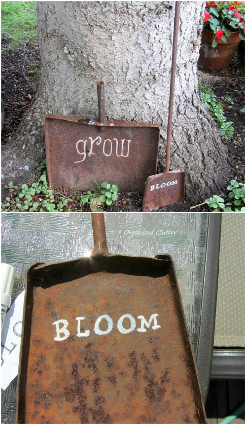 Upcycled Rusty Shovel Sign
