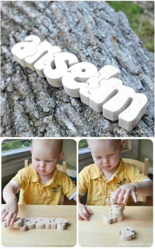 DIY Personalized Wooden Name Puzzle