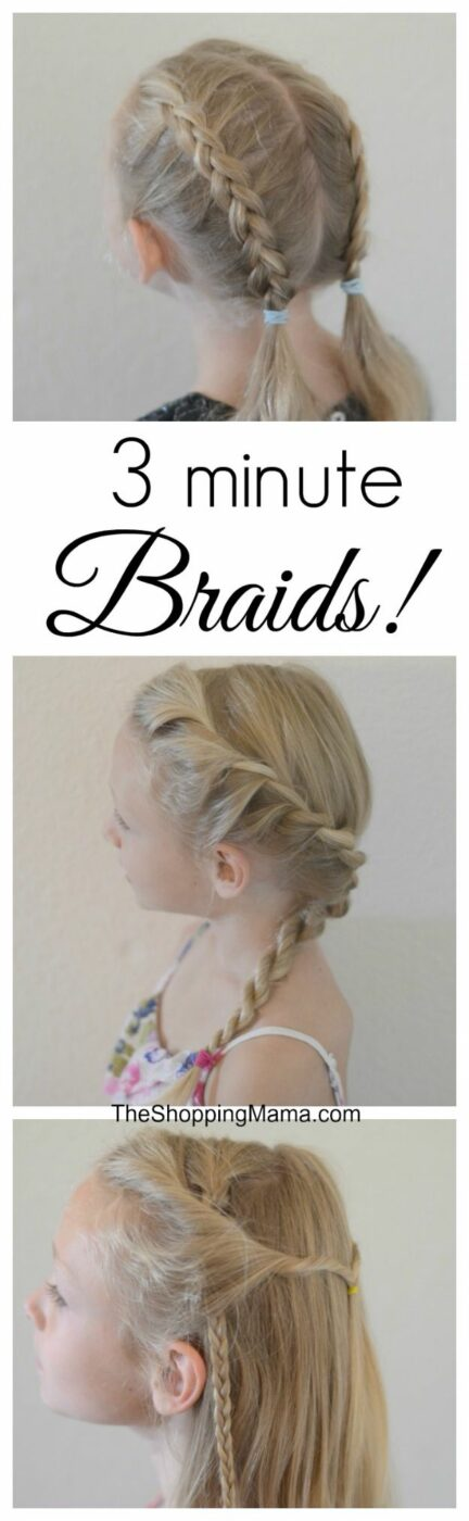 Easy Braids With Tutorials - 3 Minute Braid - Cute Braiding Tutorials for Teens, Girls and Women - Easy Step by Step Braid Ideas - Quick Hairstyles for School - Creative Braids for Teenagers - Tutorial and Instructions for Hair Braiding http://diyprojectsforteens.com/easy-braids-tutorials