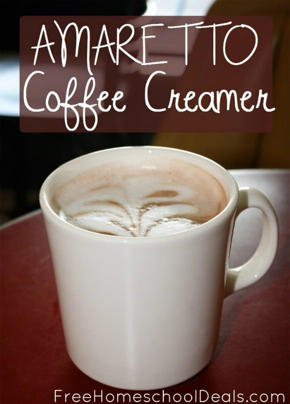 Homemade Amaretto Coffee Creamer