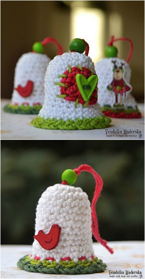 DIY Crochet Christmas Bell