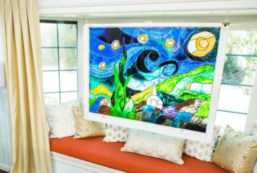 DIY Stained Glass Porch Art