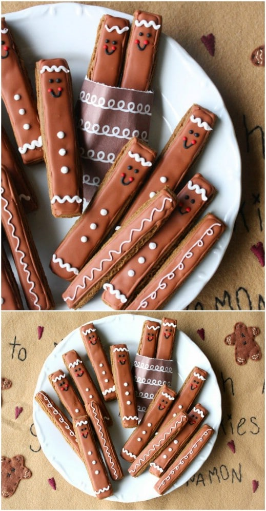Gingerbread Man Cookie Sticks