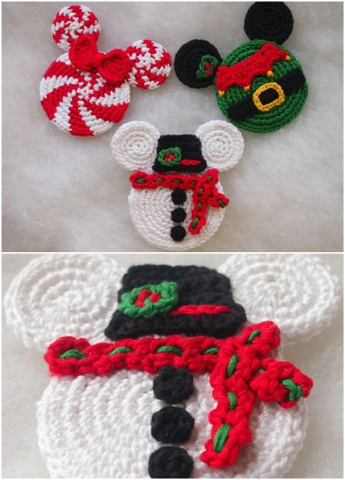 Easy Crochet Mickey Mouse Ornaments