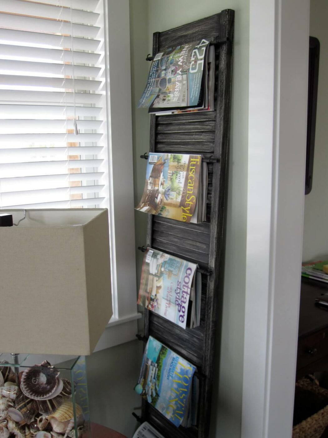 DIY Window Magazine Organizer