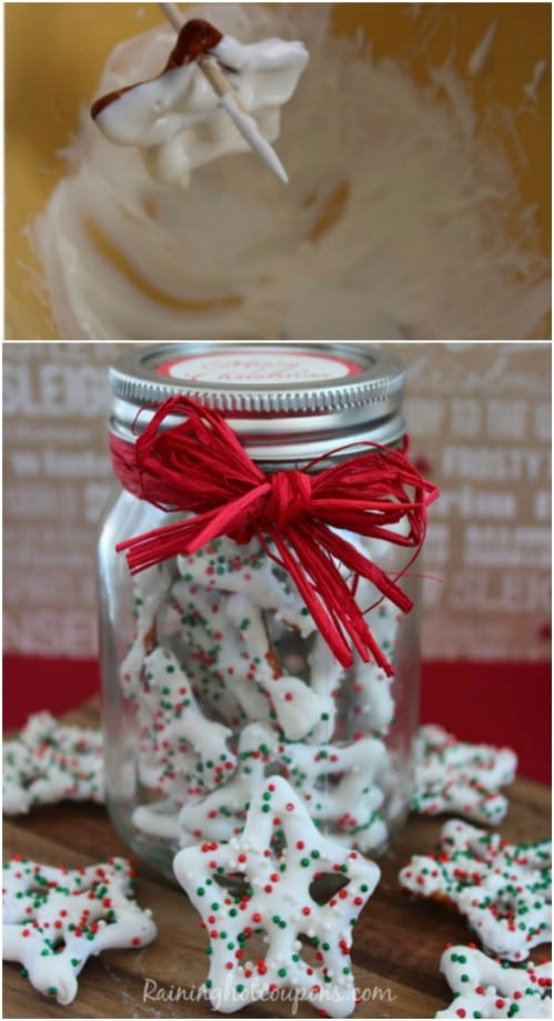 White Christmas Pretzels In A Jar