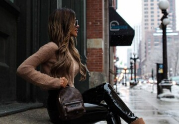 Leather-Pants Outfits That Are So Chic - leather pants outfit ideas, leather pants, leather, chicken wire