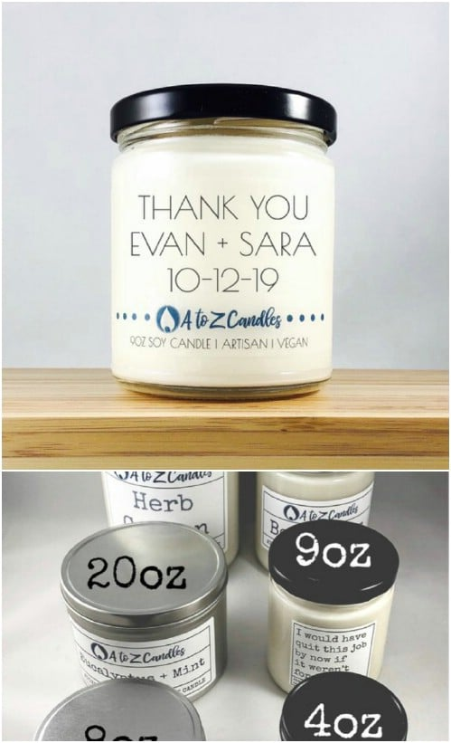 Personalized Jar Soy Candles
