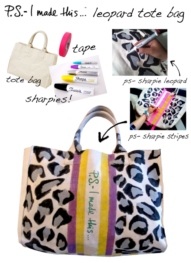 Cool DIY Sharpie Crafts Projects Ideas - DIY Fashion Ideas - Leopard Printed Tote Bag