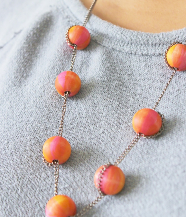 Cool DIY Sharpie Crafts Projects Ideas - Sharpie Patterned Necklace Makes Awesome DIY Jewelry Idea