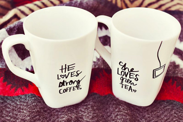 Cool DIY Sharpie Crafts Projects Ideas - Sharpie Quote Coffee Mugs