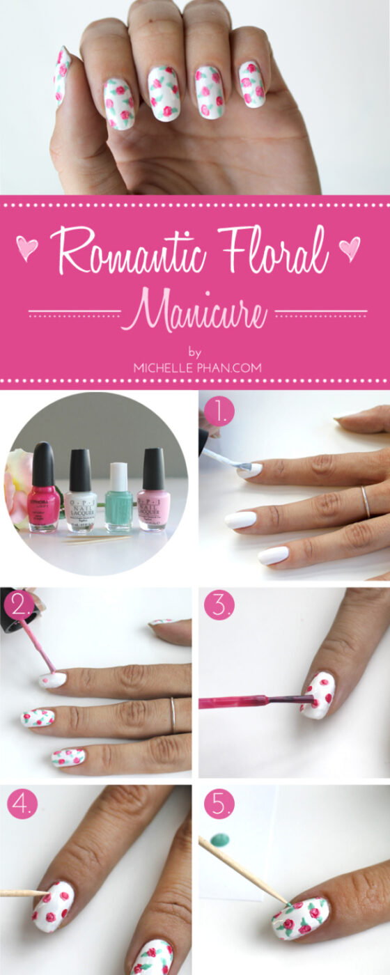 Cool Nail Art Ideas -Easy Flowers and Floral Nail Manicure Tutorial- Nail Polish Design Ideas- Candy Coat Stars and Stripes Nail Design Tutorial - Easy Nail Art Tutorials - Fun and Easy DIY Nail Designs - Step By Step Tutorials and Instructions for Manicures at Home