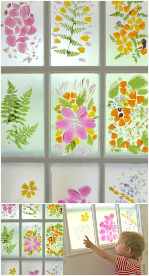 DIY Flower Petal Stained Glass