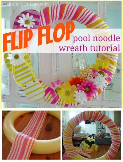 Flowery Flip Flop Summer Wreath