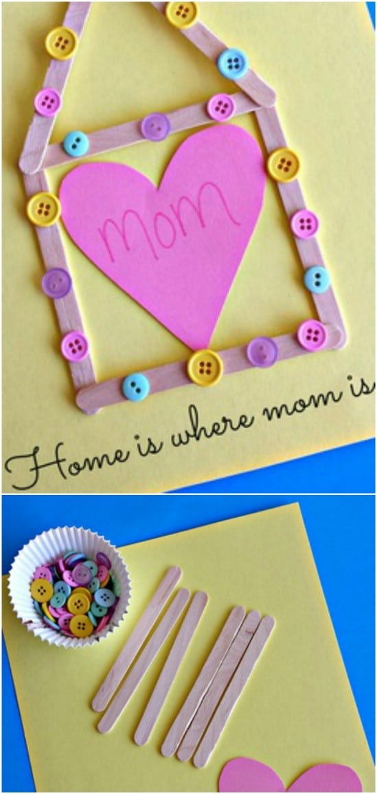 Popsicle Stick Mother's Day Craft