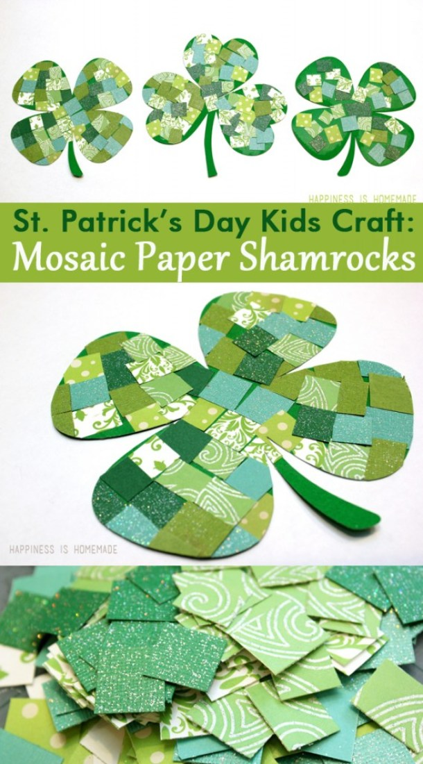 Lucky Shamrock Crafts for Kids to Make this St. Patrick's Day (Part 1) - Shamrock Crafts for Kids to Make this St. Patrick's Day, Shamrock Crafts, DIY St. Patrick's Day, DIY Decoration Ideas For St. Patrick's Day