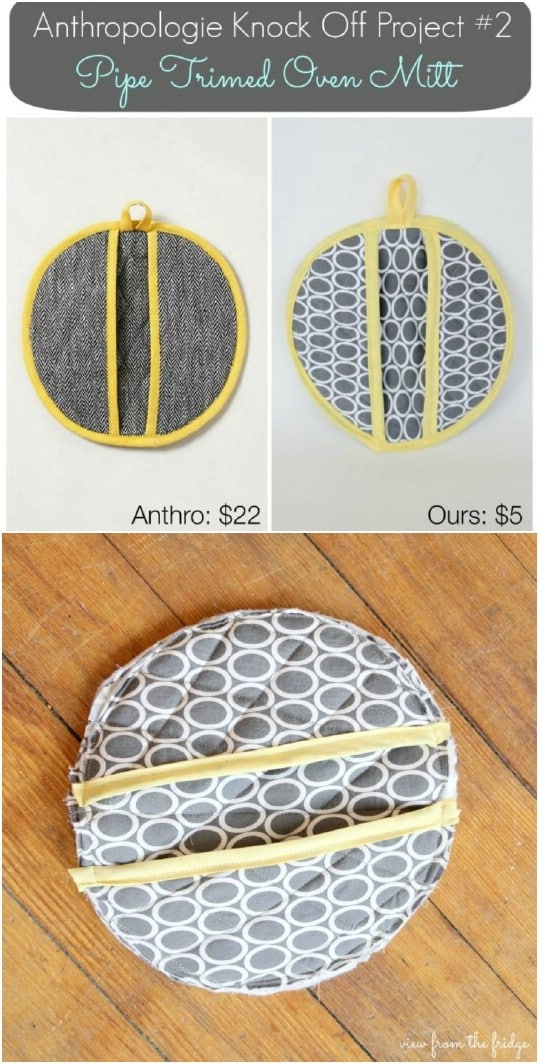 Anthropologie Knockoff – Piped Pot Holders