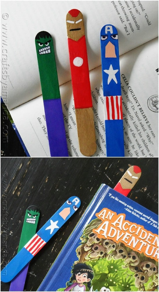 Fun DIY Avengers Bookmarks
