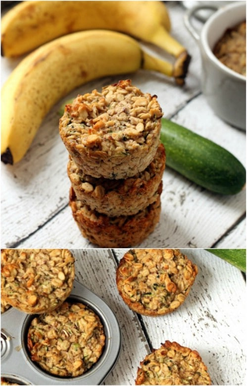 Zucchini And Banana Oatmeal Cups