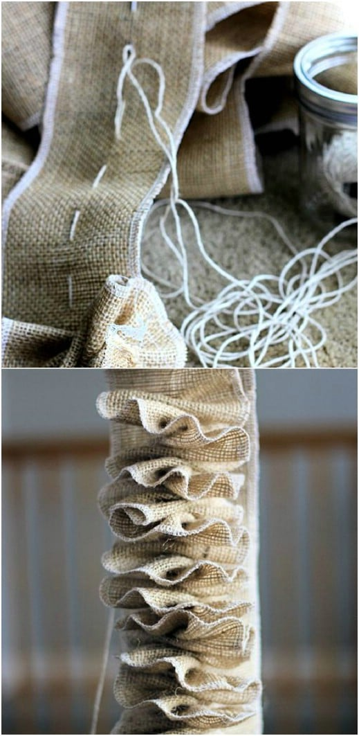 Easy DIY Burlap Garland