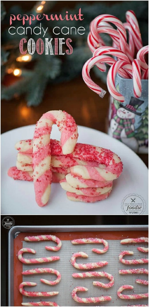Yummy Peppermint Candy Cane Cookies
