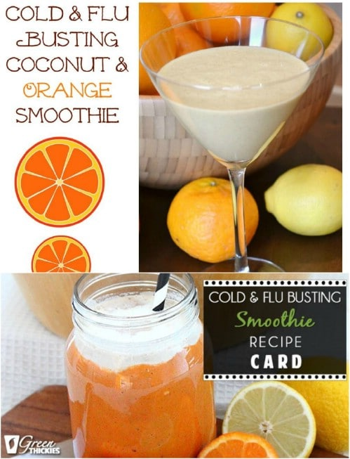 Cold Busting Coconut And Orange Smoothie