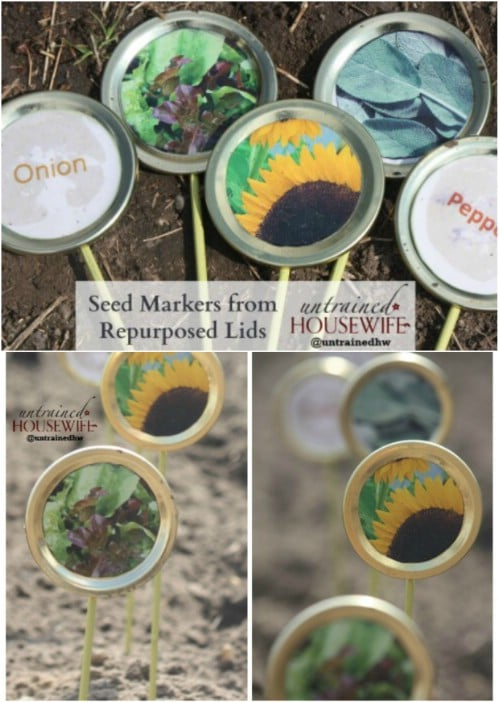 DIY Painted Canning Lid Jar Markers