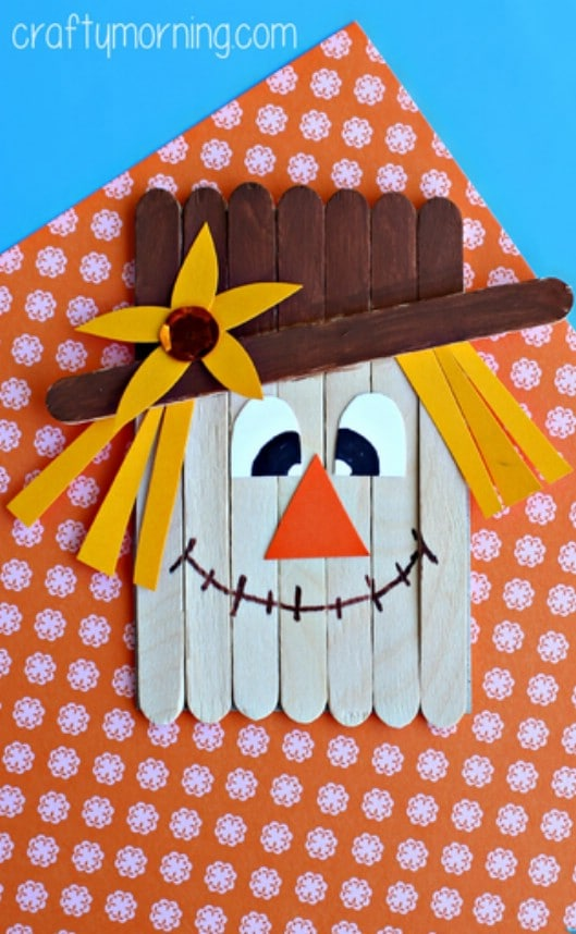Fun DIY Popsicle Stick Scarecrow Craft