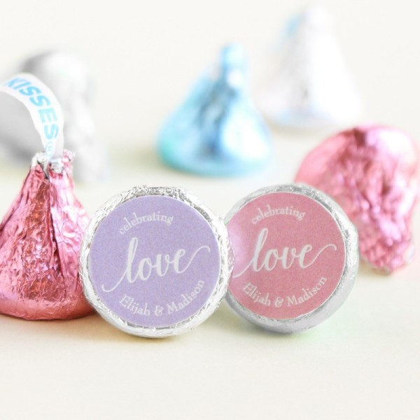4.Personalized Wedding Hershey's Kisses