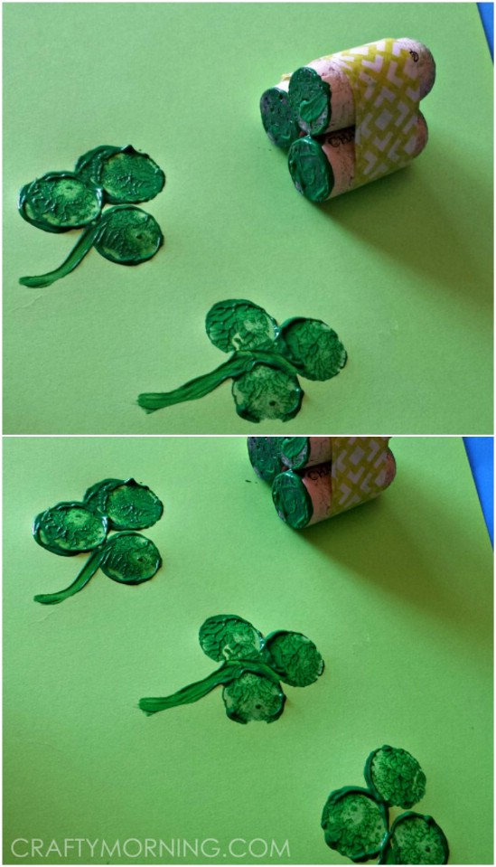 Easy DIY Wine Cork Shamrocks