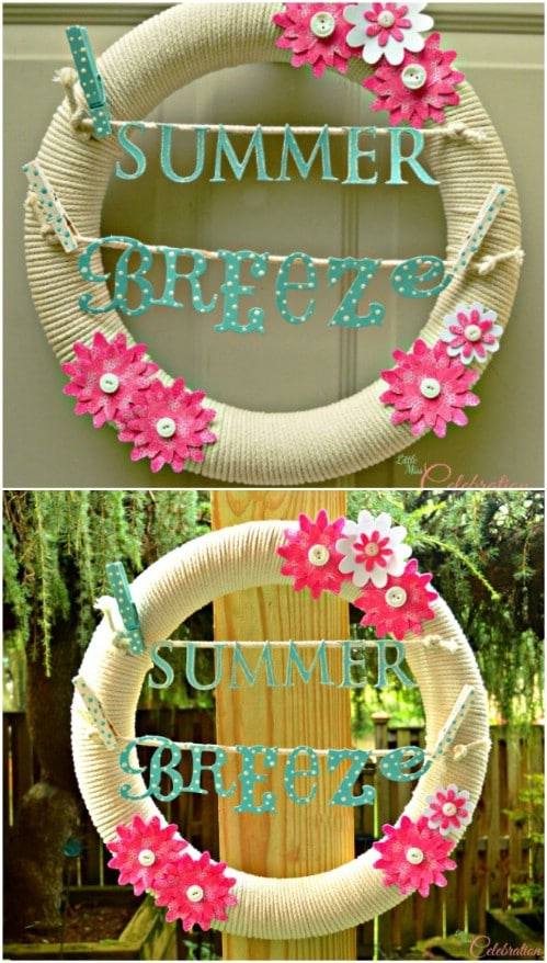 DIY Clothesline Wreath