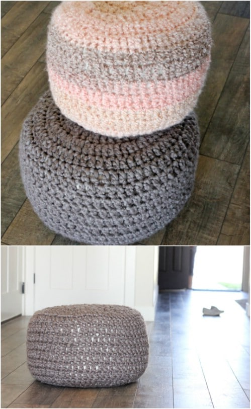 DIY Crocheted Floor Cushions