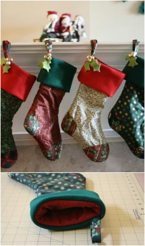 Old Fashioned Patchwork Stockings
