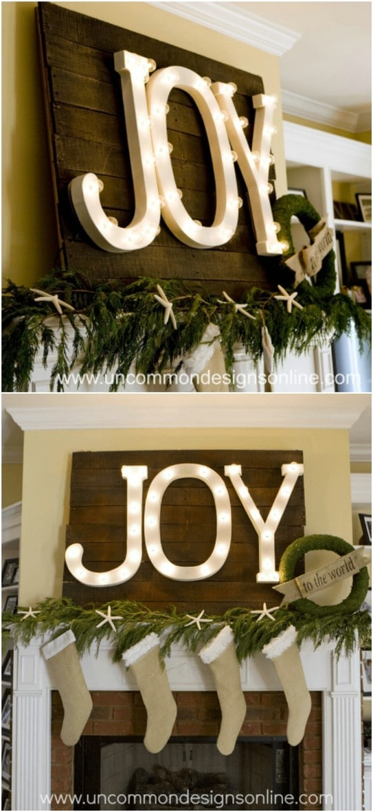Upcycled Pallet JOY Sign