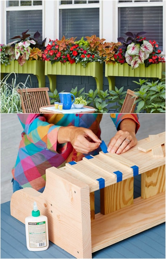 Easy DIY Planked Window Boxes