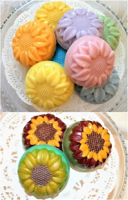 Colorful Sunflower Goat Milk Soap
