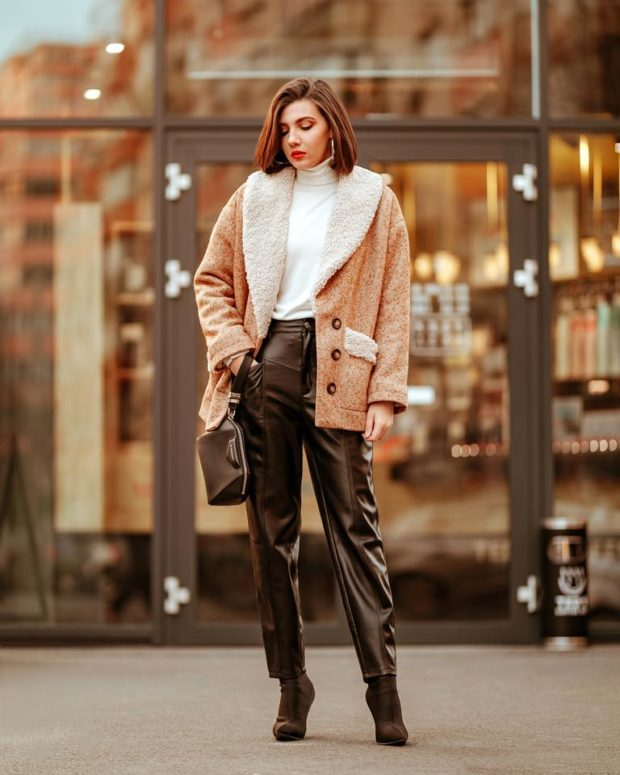 Leather Pants Outfits That Are So Chic